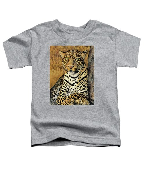 African Leopard Portrait Wildlife Rescue Toddler T-Shirt