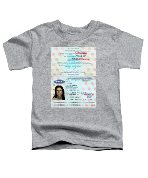 Alice Cooper Passport 1997 Toddler T-Shirt