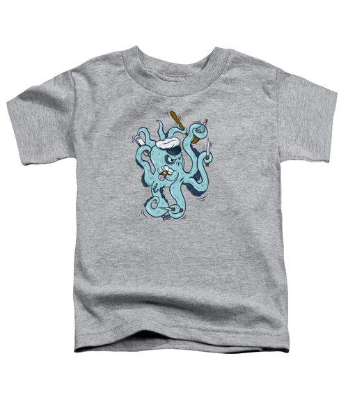 An Octopus Walks Into A Bar... Toddler T-Shirt