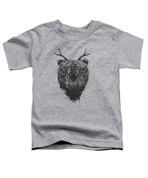 Angry Bear With Antlers Toddler T-Shirt