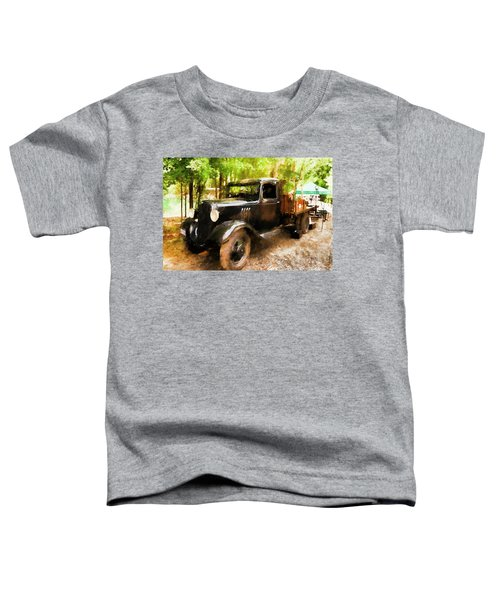 Antique Black Truck Toddler T-Shirt