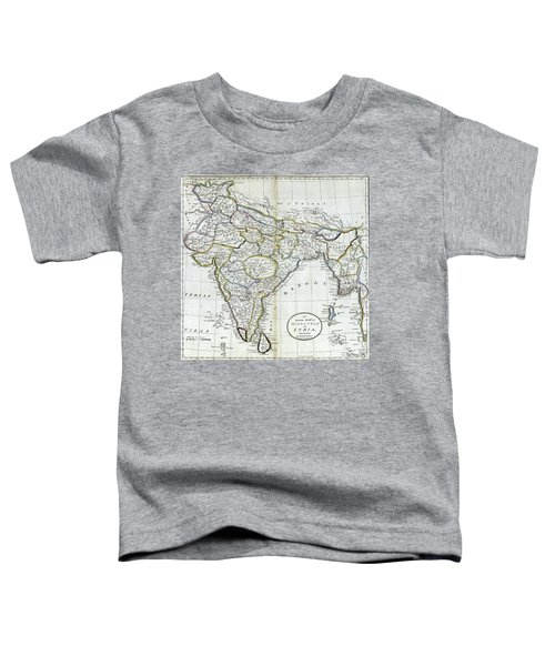 Antique Map Of India   Toddler T-Shirt