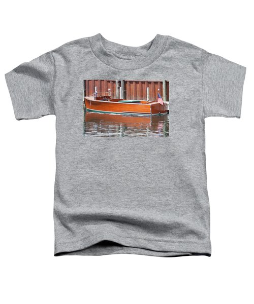 Antique Wooden Boat By Dock 1302 Toddler T-Shirt