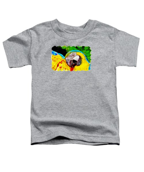 Ara Macaw Parrot Toddler T-Shirt
