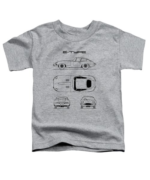 Jaguar E Type Blueprint Design Toddler T-Shirt