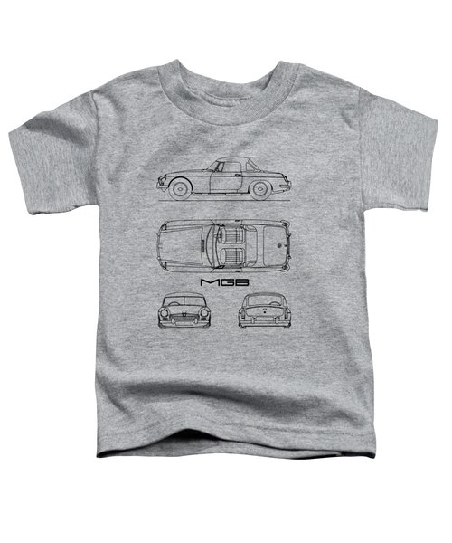 Mgb Blueprint - White Toddler T-Shirt
