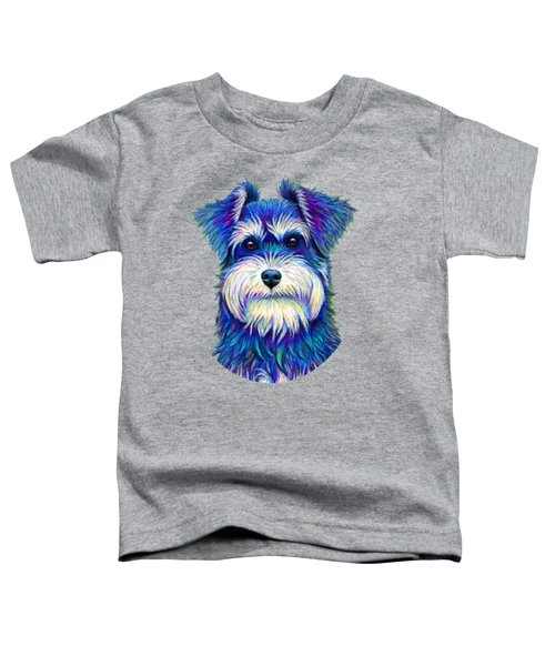Colorful Miniature Schnauzer Dog Toddler T-Shirt