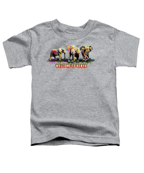 Three Elephants Toddler T-Shirt