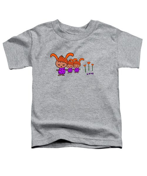 Cute Alien Family From The Love Planet Toddler T-Shirt
