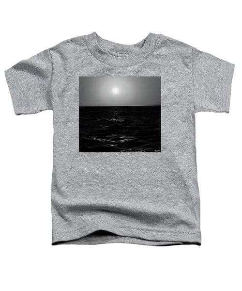 Aruba Sunset In Black And White Toddler T-Shirt