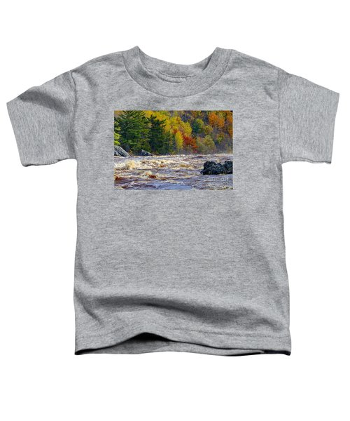 Autumn Colors And Rushing Rapids   Toddler T-Shirt