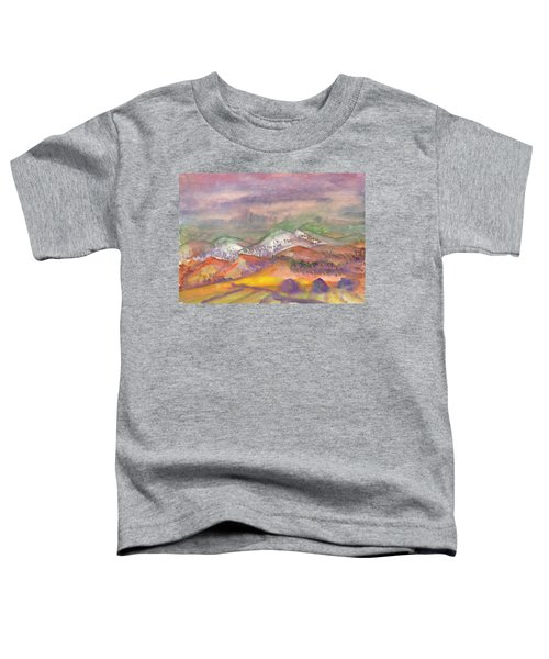 Autumn Landscape In Cloudy Weather Toddler T-Shirt