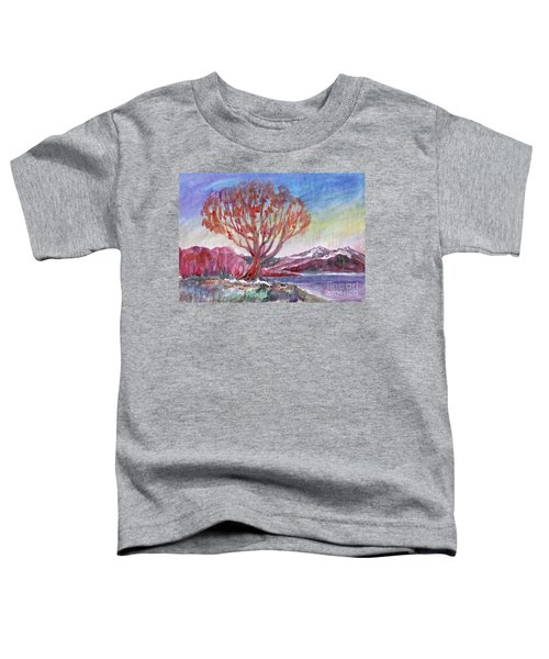 Autumn Tree By The River Toddler T-Shirt