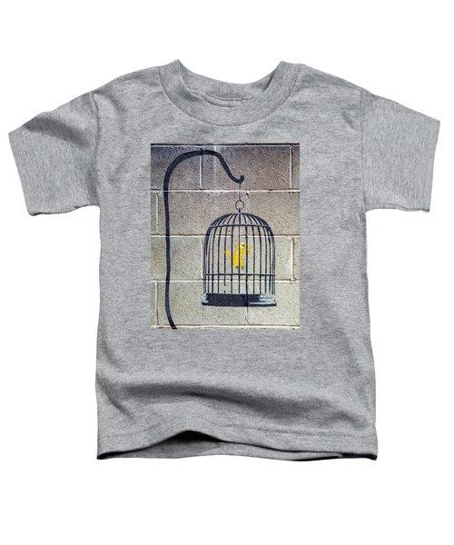 Banksy Bird Cage Detroit Toddler T-Shirt