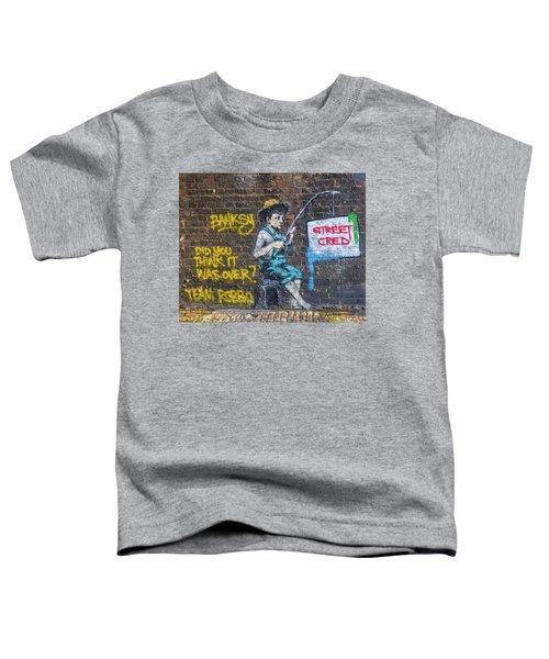 Banksy Boy Fishing Street Cred Toddler T-Shirt