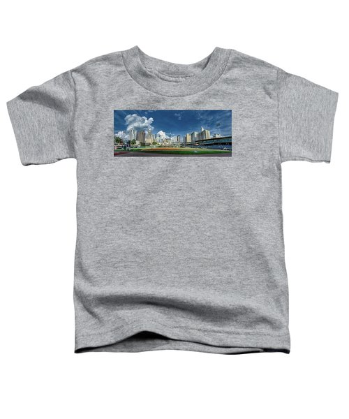 Bbt Baseball Charlotte Nc Knights Baseball Stadium And City Skyl Toddler T-Shirt