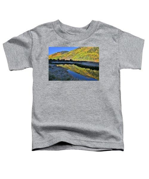 Beautiful Mirror Image On Crystal Lake Toddler T-Shirt