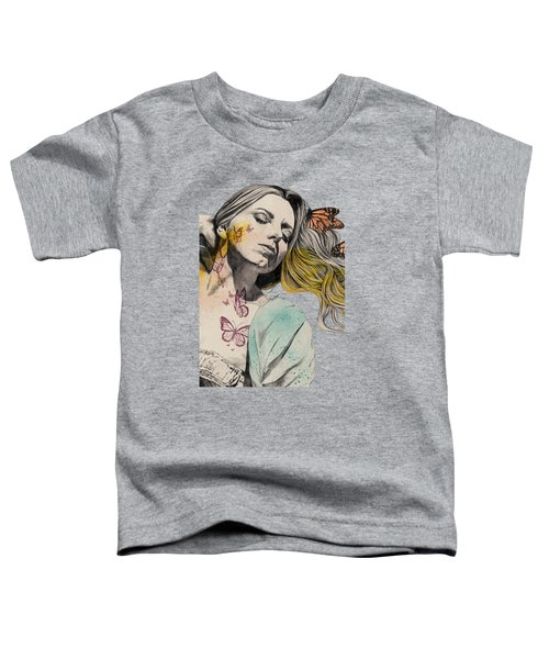 Beautiful Ruin - Sexy Butterfly Girl In Lingerie Toddler T-Shirt