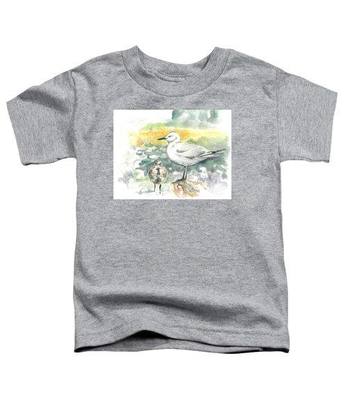 Black-billed Gull Family Toddler T-Shirt