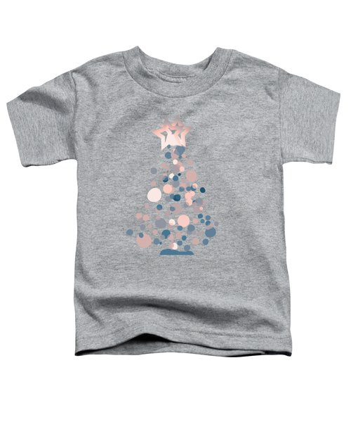 Blue Confetti Christmas Tree  Toddler T-Shirt