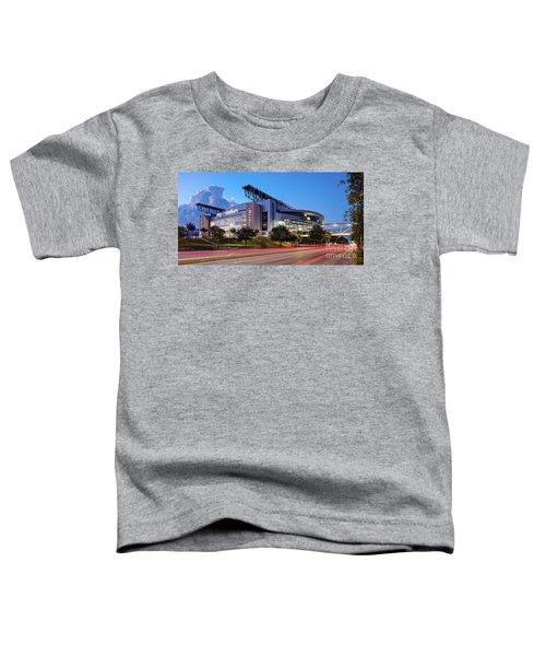 Blue Hour Photograph Of Nrg Stadium - Home Of The Houston Texans - Houston Texas Toddler T-Shirt