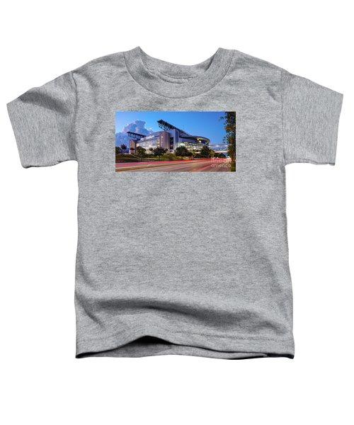 Blue Hour Photograph Of Nrg Stadium - Home Of The Houston Texans - Houston Texas Toddler T-Shirt