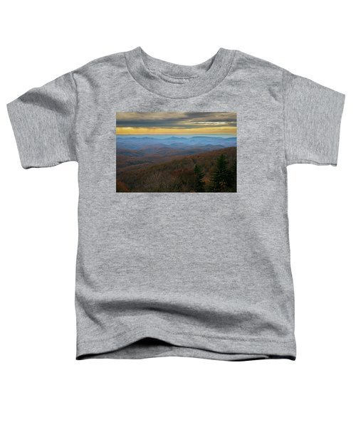 Blue Ridge Parkway - Blue Ridge Mountains - Autumn Toddler T-Shirt
