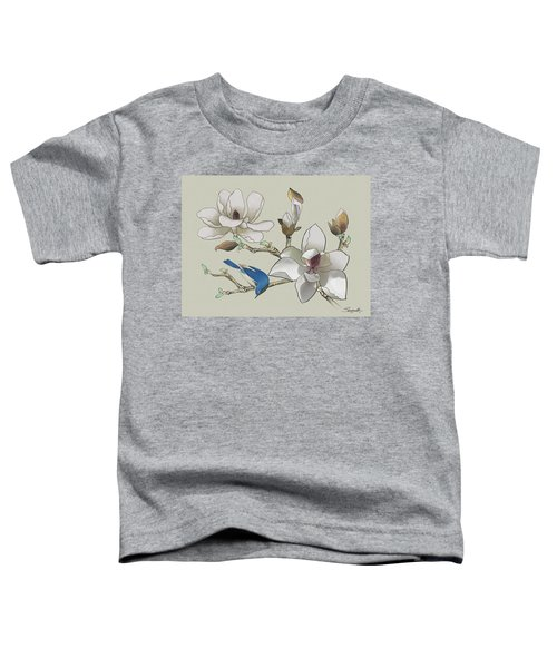Bluebird And Magnolia Toddler T-Shirt