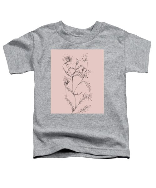 Blush Pink Flower Illustration I Toddler T-Shirt