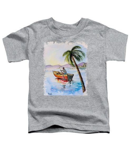 Boat And Palm Toddler T-Shirt