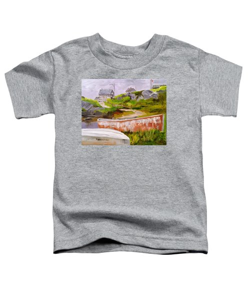 Boats At Peggy's Cove Toddler T-Shirt