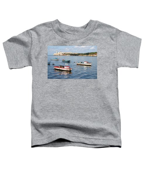 Boats In The Harbor Havana Cuba 112605 Toddler T-Shirt