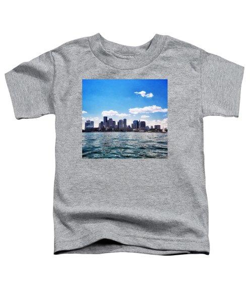Boston Skyline From Boston Harbor  Toddler T-Shirt