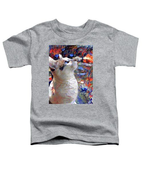 Brady The Half Siamese Half Tabby Cat Toddler T-Shirt