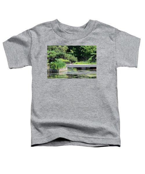 Bridge Over Pond In Japanese Garden Toddler T-Shirt