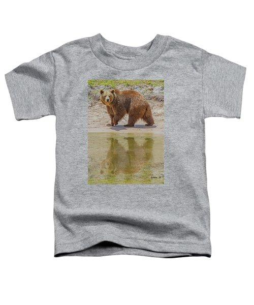Brown Bear Reflection Toddler T-Shirt