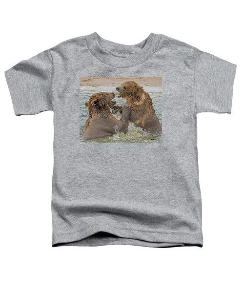 Brown Bears Fighting Toddler T-Shirt
