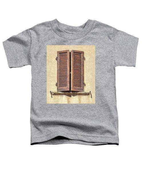 Brown Window Of Florence Toddler T-Shirt