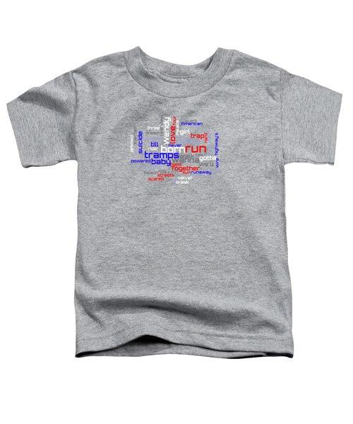 Bruce Springsteen - Born To Run Lyrical Cloud Toddler T-Shirt