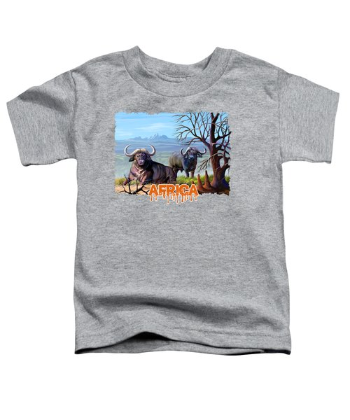 Buffaloes And The Mountain Toddler T-Shirt