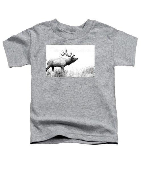 Bull Elk In Rut Toddler T-Shirt