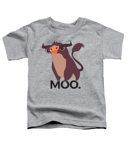 Bull Illustration - Moo Toddler T-Shirt