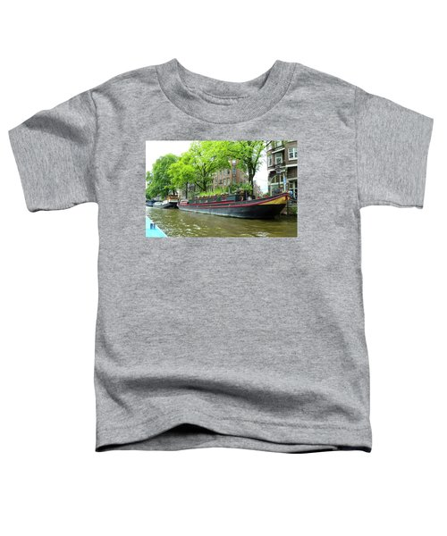 Canal Boats In Amsterdam - 2 Toddler T-Shirt