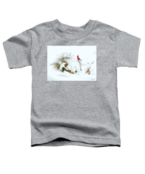 Cardinal Angel In The Snow Toddler T-Shirt
