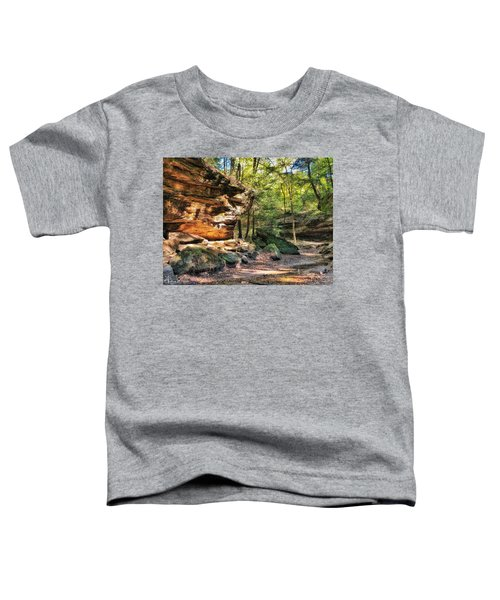 Toddler T-Shirt featuring the photograph Carved Passage by Andrea Platt