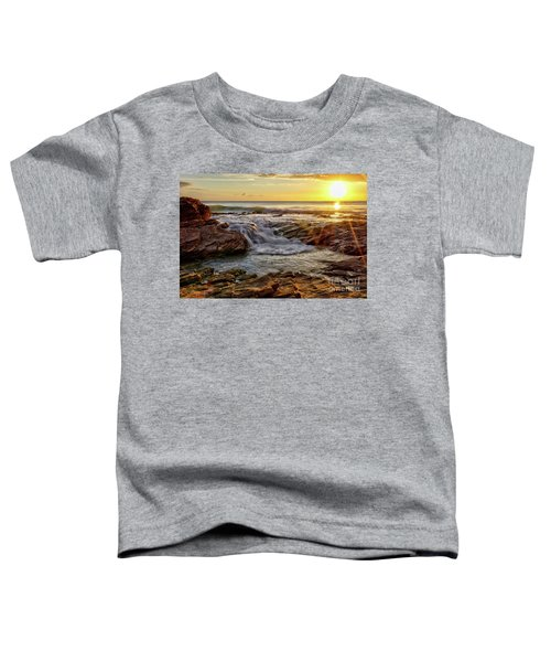 Cascading Sunset At Crystal Cove Toddler T-Shirt