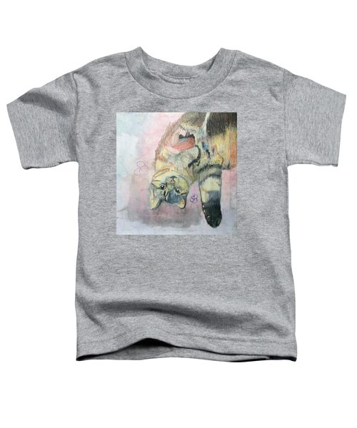 Playful Cat Named Simba Toddler T-Shirt