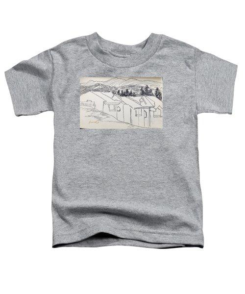 Charcoal Pencil Houses1.jpg Toddler T-Shirt