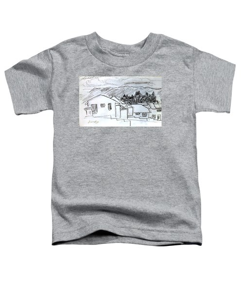 Charcoal Pencil Houses.jpg Toddler T-Shirt
