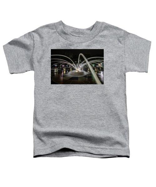 Charleston's Splash Fountain At Night Toddler T-Shirt